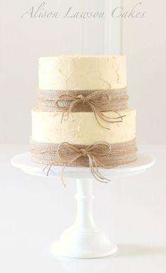 burlap cake decorations