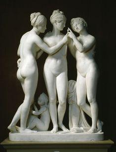 wasbella102:    The three graces with cupid: Bertel Thorvaldsen  Danish Neoclassical Sculptor ,1770-1844