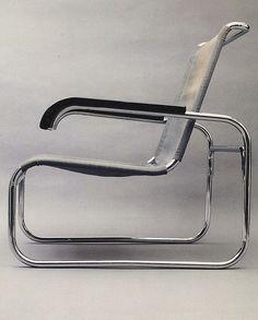 Marcel Breuer, S-35 lounge chair, 1928. / DGI