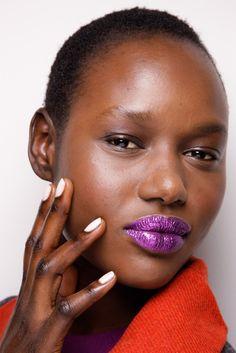 african american hairstyles, nail, model, purple, makeup, ajak deng, gift cards, beauti, purpl lipstick
