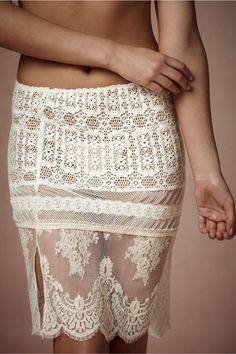 Lace Sampler Skirt from BHLDN