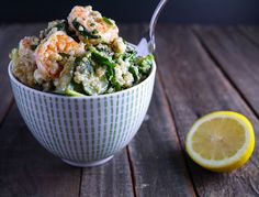Barbells and Bellinis: Shrimp Quinoa with Fresh Herbs, Vegetable and Feta Cheese