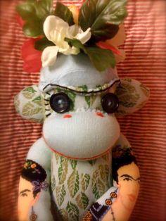 Frida Kahlo Sock Monkey