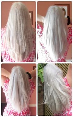 Lou Morgan - long silver hair