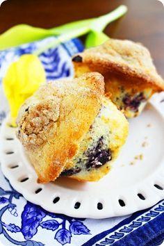 Lemon-Blueberry Crumb Muffins