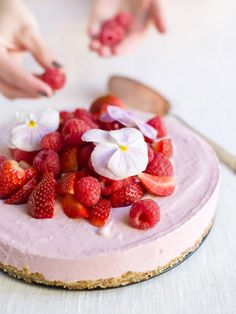 frozen pink cheesecake