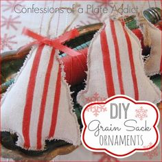 DIY Grain Sack Ornaments