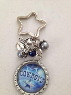 Dallas Cowboys Bottle Cap keychain. $5.00, via Etsy.