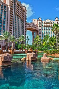 "Atlantis Paradise Island Resort, Bahamas.  Such a memorable vacation.  Ryan and I were ""stuck"" there during 9/11"