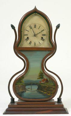 painted wood clock