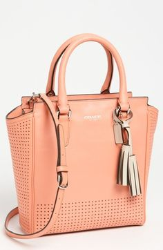 Peach perfect! COACH Legacy Perforated Tote