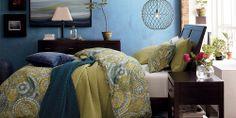 I want this bedroom.  Crate & Barrel Dream Oasis