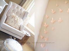 nurseryworks empire rocking chair and butterflies