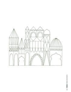 Free whimsical castle printable