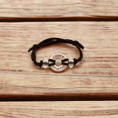 washer bracelet with cord