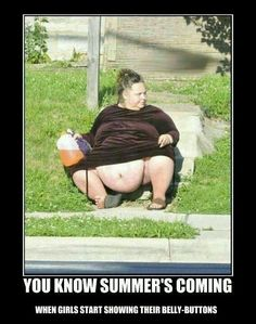 You know summer's coming when, OMG !