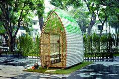 Greenhouse made from 2,000 plastic bottles http://goo.gl/ryn0ZM