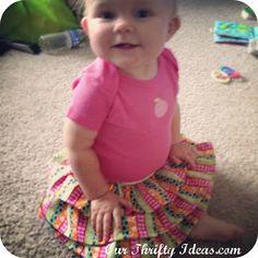 Baby Ruffle Skirt Tutorial Kids Projects, Amazing Tutorials, Diy Ruffles, Thrifty Ideas, Ruffles Skirts Tutorials, Baby Girls, Baby Skirts, Baby Ruffles, Diy Projects