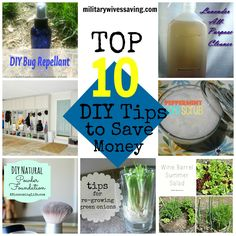 Top 10 #DIY Tips to Save Money #budgeting #frugalliving