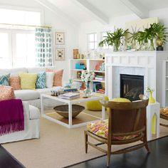 Beautiful beachy living room!