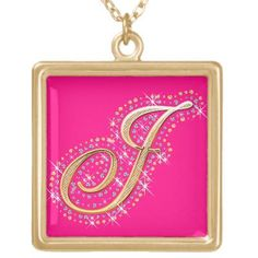 Necklace with Initial J