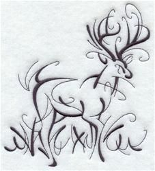 EL Intricate ink Deer