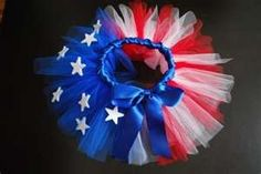 """Patriotic tutu"" - Cute for a homecoming"