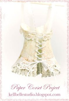 Kell Belle Studio - Boho Basil paper corset - part of the corset diary project - visit the project to see other corsets and templates
