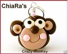 Monkey  Polymer Clay Charm by CharmthisClayCharms on Etsy, $3.00