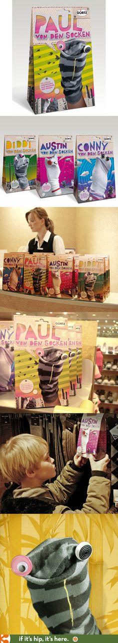 Gortz Sock Puppet packaging by Gurtlerbachmann ( a Red Dot Winner award).