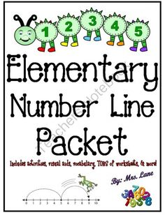 Elementary Number Line Packet (JAM-PACKED!) from Mrs Lane on TeachersNotebook.com -  (197 pages)  - This packet contains TONS of fabulous items to teach number lines to elementary students, from activities and games, printable worksheets, handouts, posters, and more! These wonderful resources will i