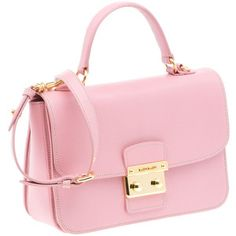 Pale pink bag.