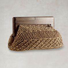 Outstanding Crochet: Irish Crochet dress and Macrame clutch from Ralph Lauren.