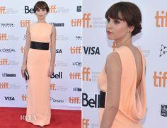 Felicity Jones In Balenciaga – 'The Theory of Everything' Toronto Film Festival Premiere