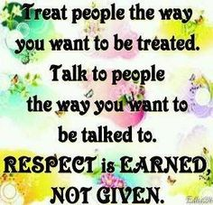 Its all about the Golden Rule.