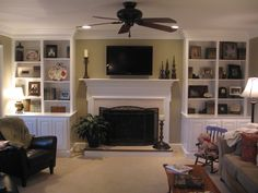 Built in Bookcases around Fireplace procraftwoodworks.com