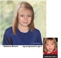 This is a new age-progression image of Madeleine, commissioned by the Metropolitan Police. It is a guide as to what Madeleine may look like now, aged 9.    If you see a young girl who looks like this, PLEASE CONTACT:    Your local police force immediately, AND    Operation Grange  0207 321 9251 (in the UK)  +44 207 321 9251 (non-UK)    or     Operation.Grange@met.pnn.police.uk