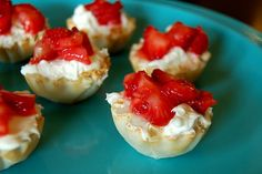 easy, no bake mini cheesecake bites...this would be good to take to a party.