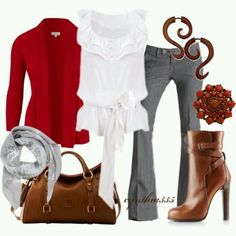 Winter clothes in earthy colors