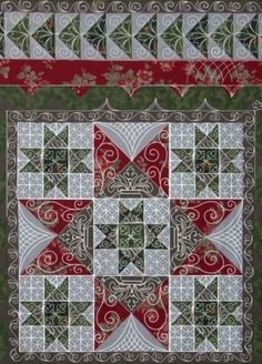 quilt border ideas | Quilting ideas for applique borders