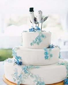 """See the """"Retro Cake with Blue Flowers"""" in our  gallery"""