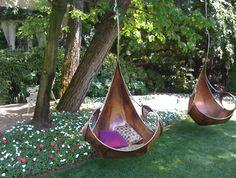 Beautiful garden swings.