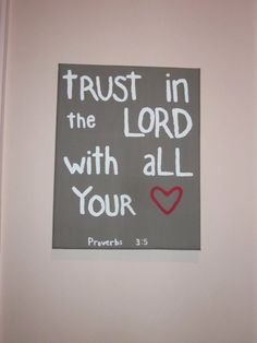 Bible Verse Painted Canvas by candacesmith3 on Etsy, $15.00