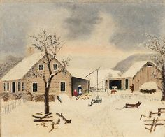 Grandma Moses, March 3, © Grandma Moses Properties Co., New York. Kallir 179b