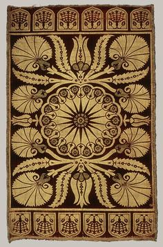 Cushion cover, 17th C. Ottoman Turkey.  Silk and metal thread.