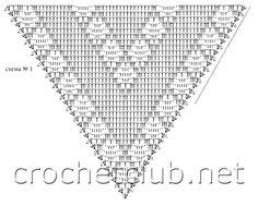 Crochet black shawl ♥LCP-MRS♥ with diagram. ----- CARAMELO ARDIENTE es... LA PRINCESA DEL CROCHET: foulard de arañitas y filet