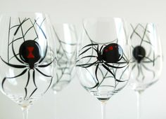 spider wine glasses