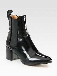 Acne - Free Leather Ankle Boots - Saks.com