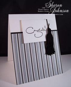 graduat card, stamped graduation cards, paper crafts, school color