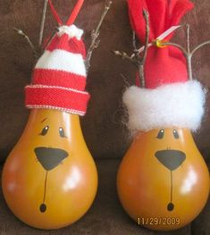 Reindeer Lightbulb Ornaments